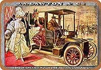 金属サインジャーレートン車レトロ装飾ブリキ看板バー、カフェ、アート、家の壁の装飾