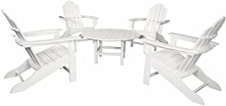 Hanover All-Weather 5-Piece Adirondack Chat Group - White