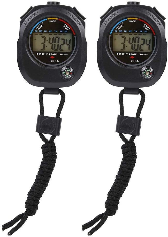 Sports Stopwatch Multifunctional Handheld Timer with Digital LCD