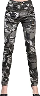 Runyue Women's Stretch Capri Chino Cargo Pants Outdoor Sport Combat Camouflage Tights Trousers
