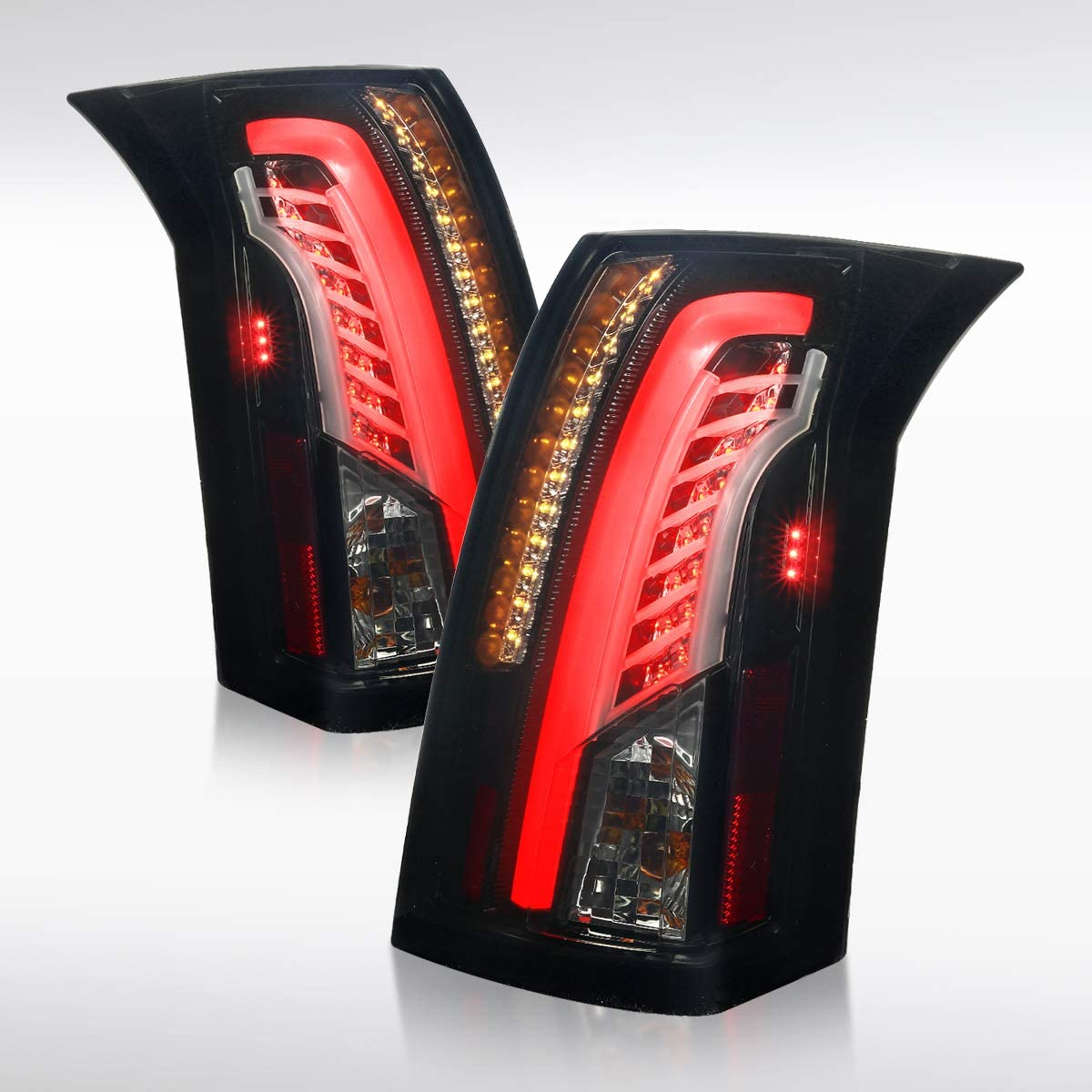 Autozensation for 2003-2007 Cadillac CTS DRL Bar LED Blac Glossy 早割クーポン セットアップ