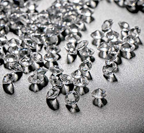 ABSOFINE Deko-Diamanten Farblos Diamantkristalle Transparent Kristall Dekosteine Tischdeko Diamanten Streudeko Hochzeit Dekoration (6mm-10000Stk)