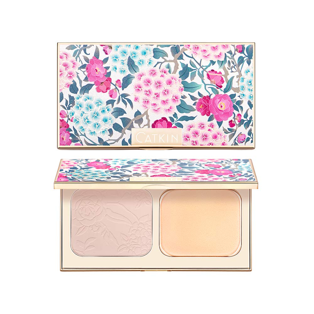 CATKIN Makeup Face Gorgeous Pressed Powder safety Foundation Compact Conce Matte