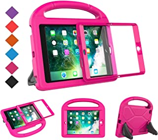 BMOUO Case for iPad Mini 1 2 3 - Built-in Screen Protector, Shockproof Lightweight Hard Cover Handle Stand Kids Case for iPad Mini 1st 2nd 3rd Generation, Rose