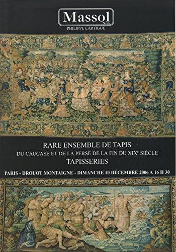 Rare ensemble de tapis principalement du Caucase et de la Perse de la fin du XIXe siècle, tapisseries : Vente, Paris, Drouot Montaigne, 10 décembre 2006