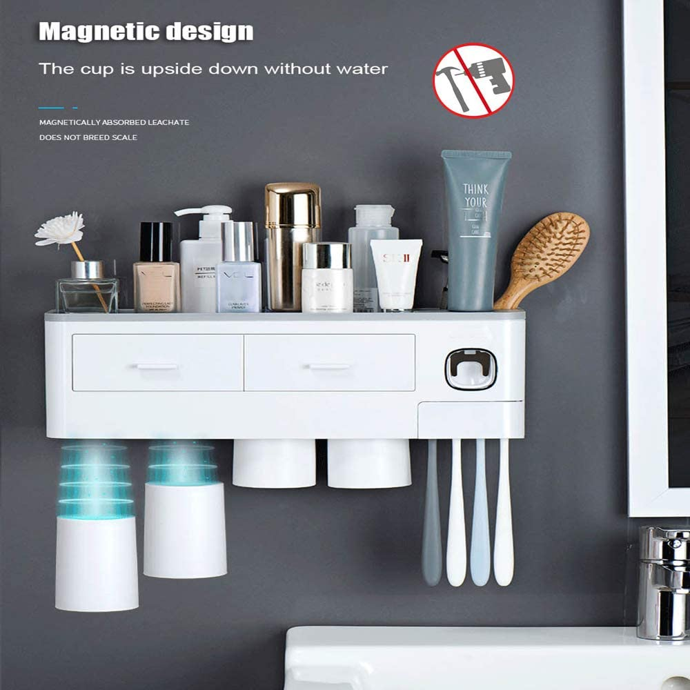 OFFicial Toothpaste Holder Bathroom Storage Wall-Mounted dust-Proof Box wholesale