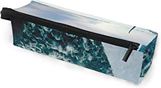 Glasses Case Orca Wallpapers Multi-Function Zippered Pencil Box Makeup Cosmetic Bag for Women/Men