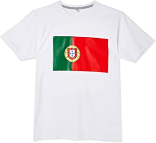 Portugal Football Flag T-Shirt Sport Top For Men