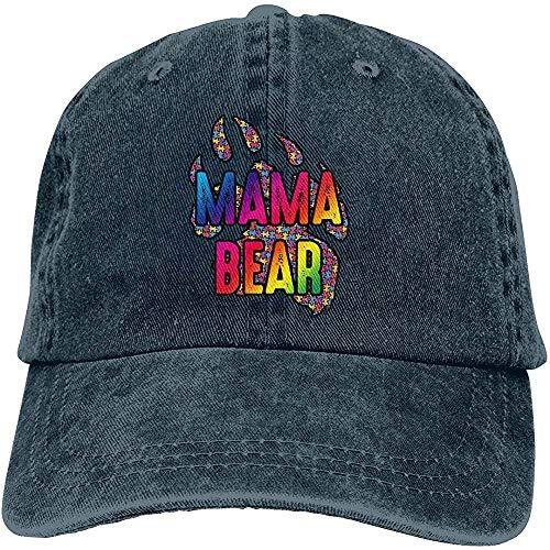 W-Fen Mama Bear Autism Conware Adulto Unisex Ajustable Dad-Hat Gorra de béisbol Lavada Vintage