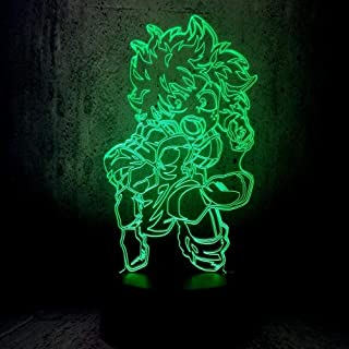 BTEVX 3D Illusion Lamp Led Night Light My Hero College Deku Personality One For All Home Decor Bedroom Decoration Creative...