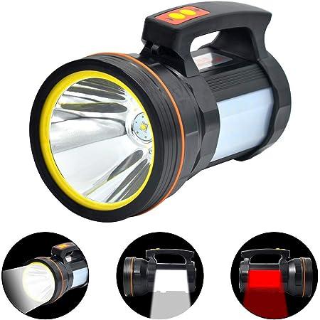 LED Handheld Spotlight Light USB Rechargeable Camping Hunting Flashlight Torch.