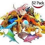 Meerestiere Spielzeug, 52 Stück Ausgewählte Mini Vinyl Plastik Tiere als Spielzeugset, Yeo...
