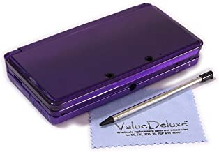 ValueDeluxe Midnight Purple Nintendo 3DS Complete Full Housing Shell Case Replacement Repair Fix with ValueDeluxe Micro Fiber Cleaning Cloth [bundle][video games]