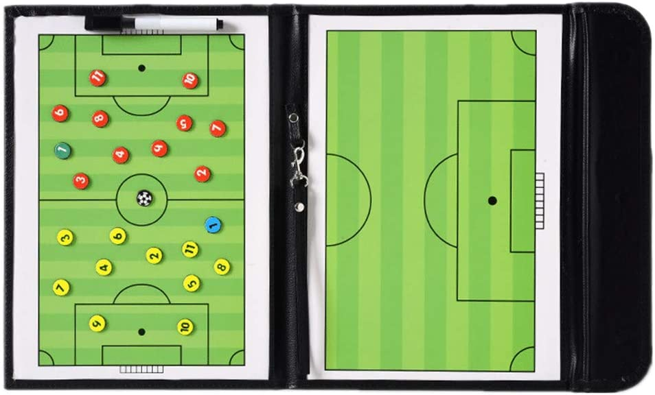 LHIABNN Max 74% OFF Foldable Leather favorite Football Soccer Magnetic Tactic Marker