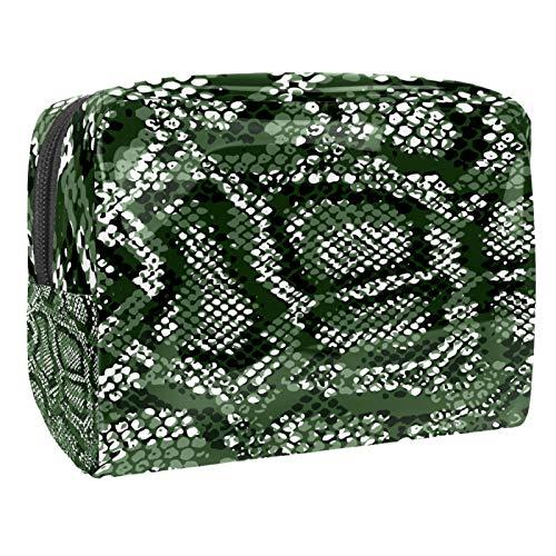 Bolsa de maquillaje de PVC para mujer y niña, organizador de artículos de tocador cosméticos, bolsa de 17 x 7 x 5 cm, peces y hojas de loto en el estanque, Color 15, 18.5x7.5x13cm/7.3x3x5.1in, Neceser