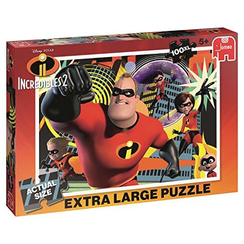 Jumbo Disney The Incredibles 2 - Puzzle 100 XL Puzzle - Rompecabezas (Puzzle Rompecabezas, Dibujos, Niños, The Incredibles, Niño/niña, 5 año(s))