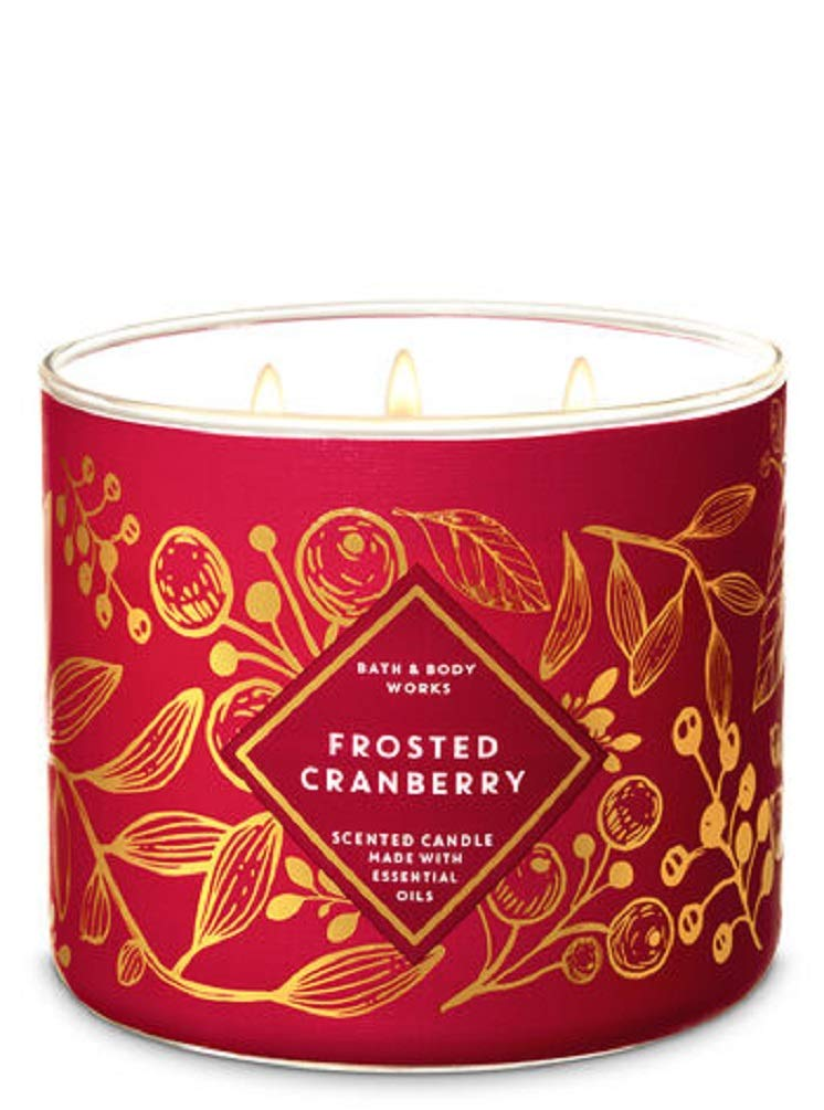 White Barn Bath & Body Works 3-Wick Scented Candle in Frosted Cranberry