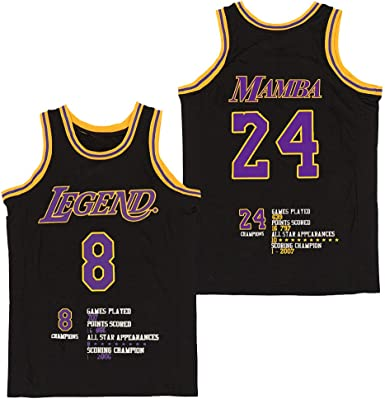 Men's Fashion Legend 8 Athletic 24 Bryant Basketball Jersey