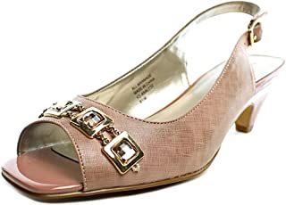 Karen Scott Womens Analese Peep Toe Slingback Classic Pumps