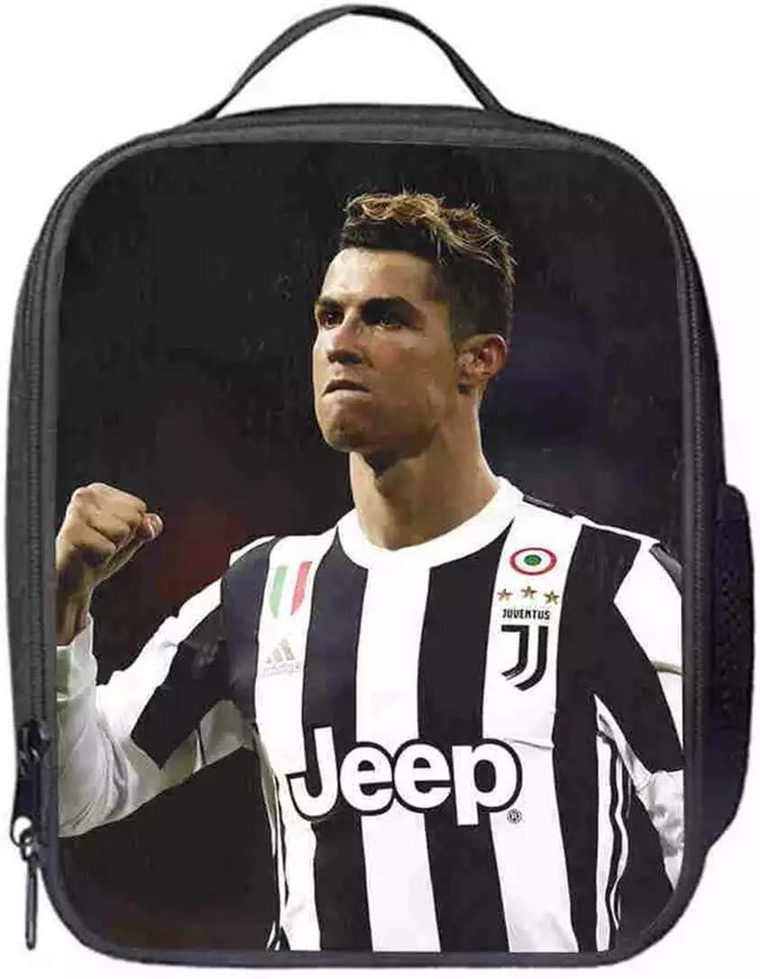 PaPama Kids Cristiano Ronaldo Insulated Travel Lunch Boxes-Boys