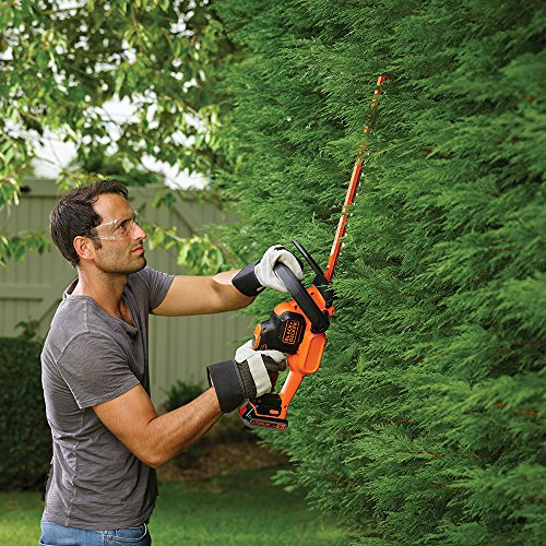 BLACK+DECKER 18V Cordless 45 cm Hedge Trimmer with 2.0Ah Lithium Ion Battery