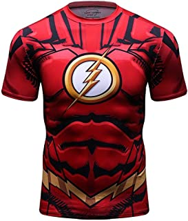 The Flash Workout Shirt For Gym Mens Slim Fit Short Sleeve Compression Top