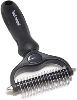 Maxpower Planet Pet Grooming Brush - Double Sided Shedding and Dematting Undercoat Rake Comb for Dogs and Cats,Extra Wide,...