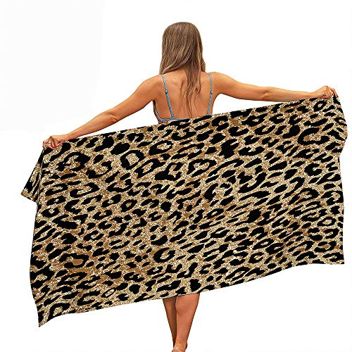 Stillshine. Grande Toallas Playa Toallas Baño Absorción Agua Secado Rápido Microfibra XL XXL 3D Color Leopardo Tema Toalla Niño Gente Joven Hombre Manta (Color4,100x200cm)