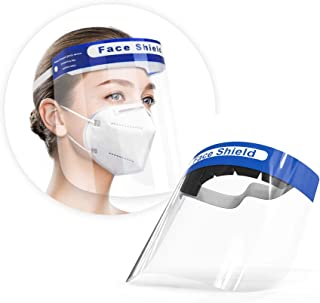 Artnaturals Face Shield Reusable (Pack of 10) Plastic Face Mask Shields for Full Face & Eye Safety Protection from Droplets, Saliva & More – Breathable Guard, Anti-Fog, Clear Vision, Adjustable Cover
