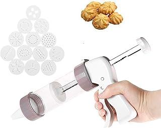 Qiajie Cake Biscuits Moldes Juego de Prensa para Galletas y Pastel Icing Decorating Set con Icing Gun Juego de Herramientas para Cortar Galletas para cocinar y cocinar