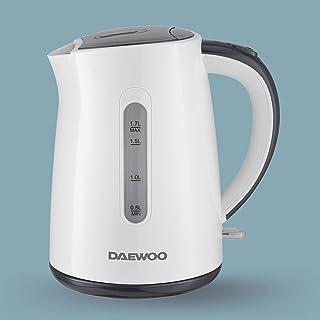 Daewoo 1.7 Liter Electric Kettle 2200W Korean Technology DEK8805 White/Grey - 2 Years Warranty