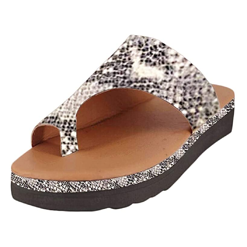 Sandals for Women Fzitimx Women's Platform Sandals Wedge Shoes Sandals Toe Summer Beach Shoes