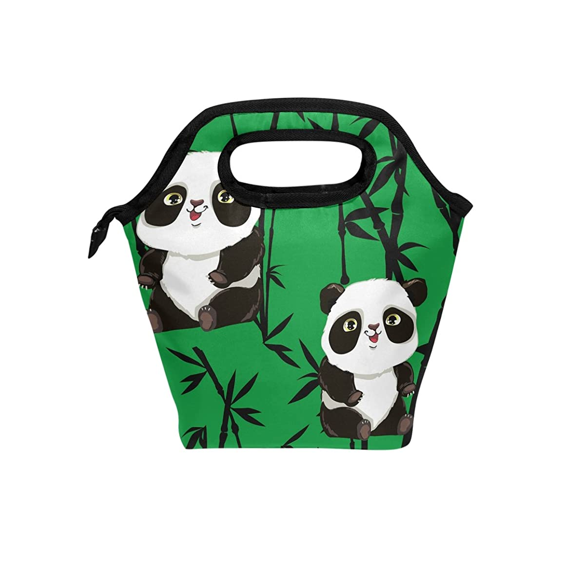 BETTKEN Lunch Bag Cute Animal Panda Bamboo Insulated Reusable Lunch Box Portable Lunch Tote Bag Meal Bag Ice Pack for Boys Girls Adult Women