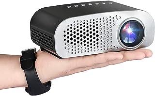 DZSF Mini LED-projektor GP802A Heim Beamer för barn 1920 x 1080P HD mini projektor stöd SD HDMI USB, över 20 000 timmars l...