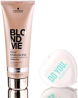 Schwarzkopf Pro BlondMe Tone Enhancing COOL BLONDE Bonding Shampoo (includes Sleek Compact Mirror) - Cool Blonde (8.4 oz / 250ml)