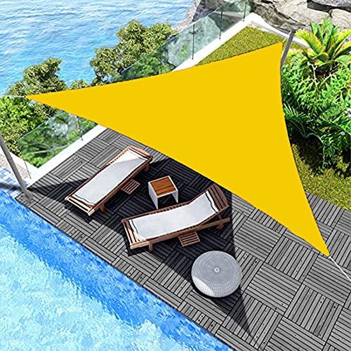 Niguleser Toldo de vela de sombra, 90% impermeable, antiUV, con kit de fijación de cuerda, vela solar para patio, jardín, camping, refugios
