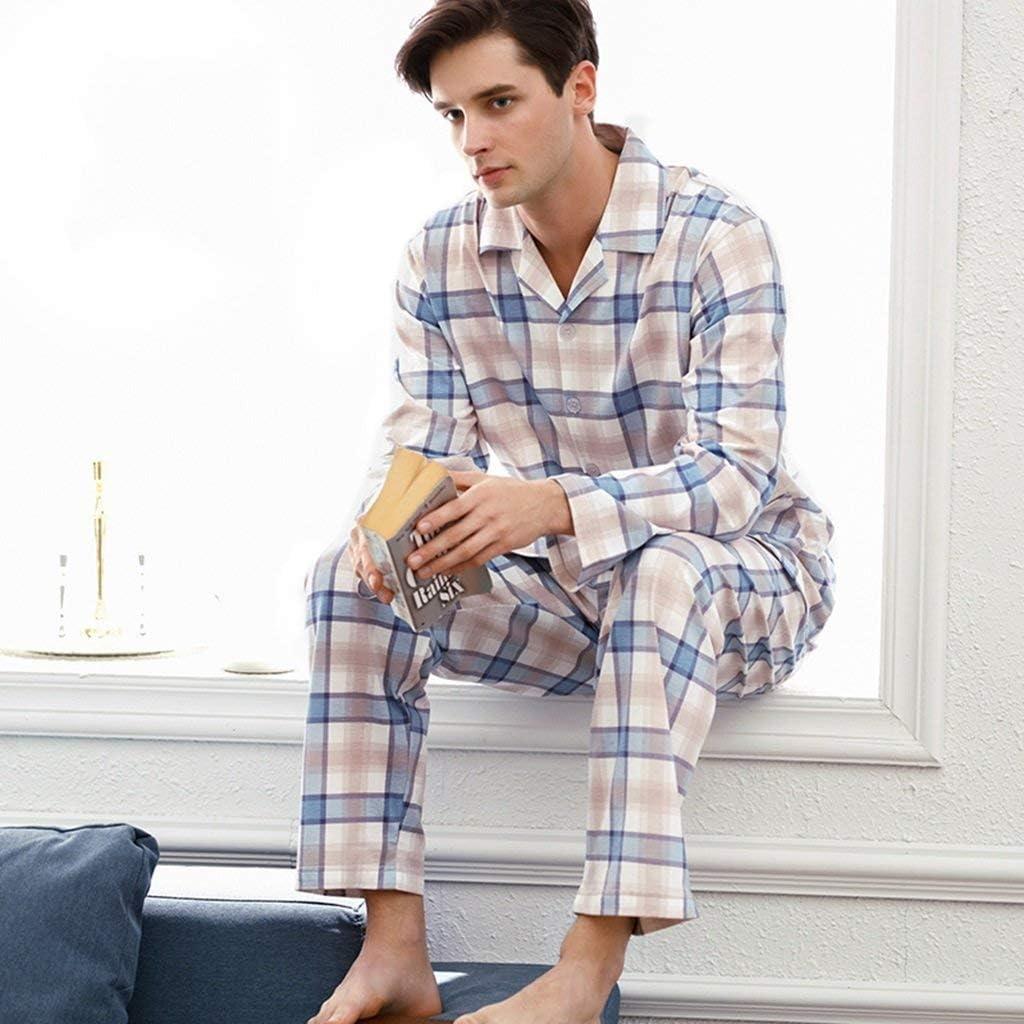 BOLAWOO Pijamas De Cuadros Pijamas Primavera Y De Otoño ...