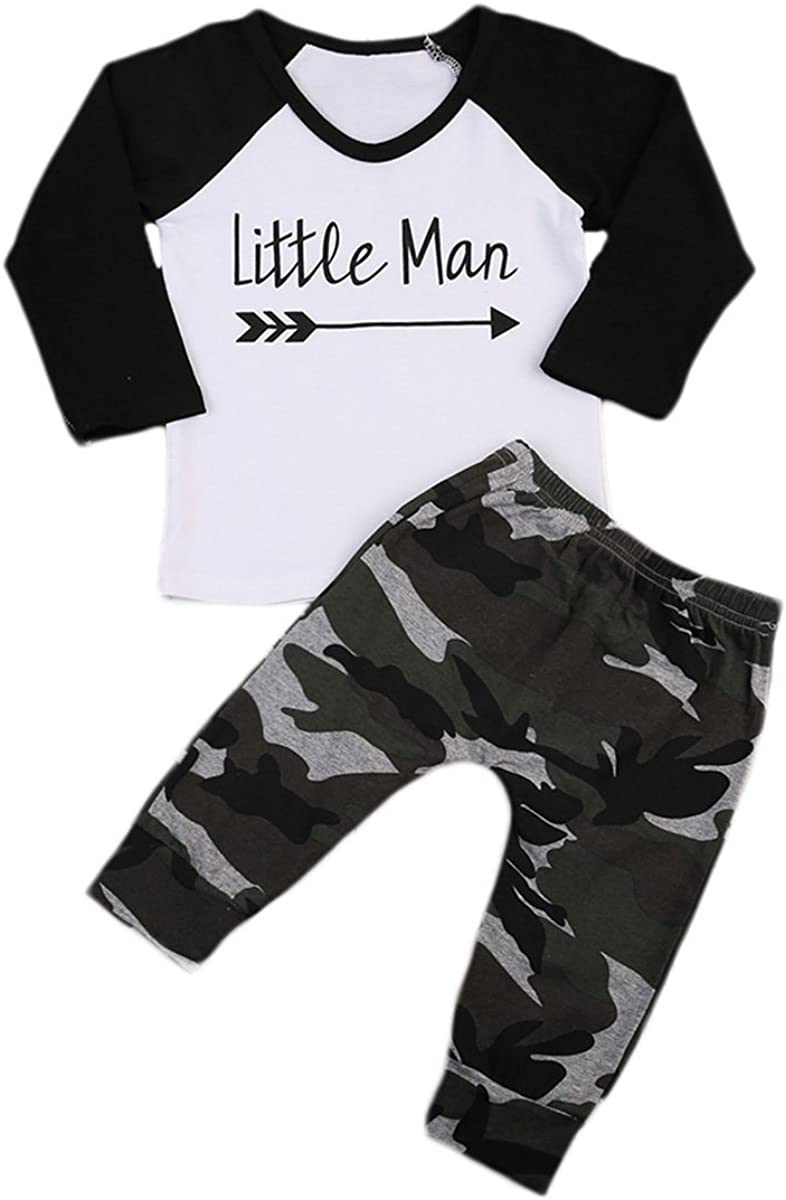 Brand new Sale special price 2Pcs Set Newborn Infant Baby Boys Sleeve Long Arrow Outfit T-Shi