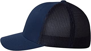 Men's Two-Tone Stretch Mesh Fitted Cap