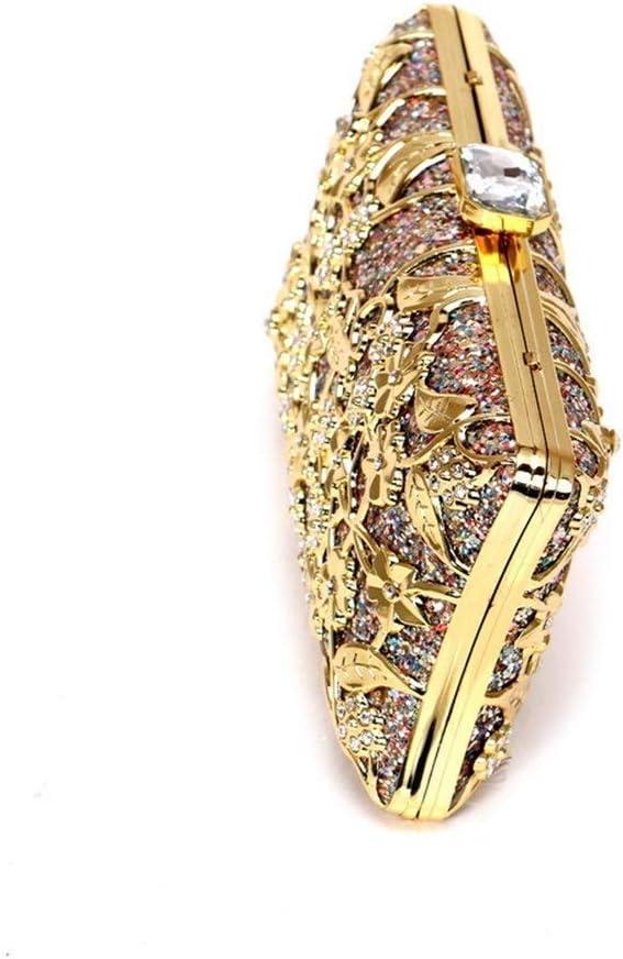 BeiMi Sacs à Main de for Femmes Sparkling Strass Fashion Ladies Chaîne Soirée Poignée poignée Messenger Bag Sac à Main Mariage Sac à Main (Couleur: Plusieurs Choix) Silver