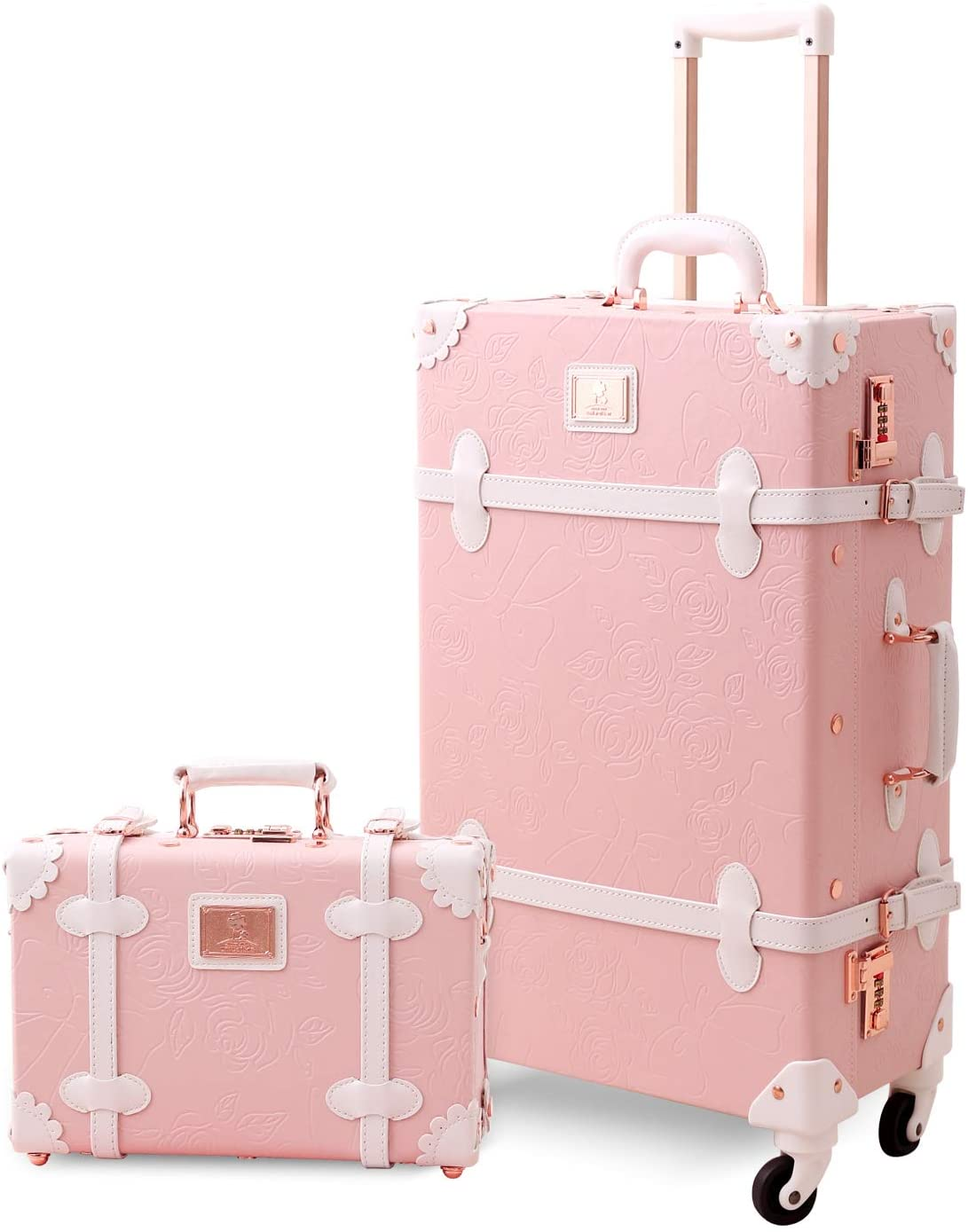Max 42% OFF UNIWALKER Vintage Suitcase Set 20 Luggage inch Spinner on Carry Easy-to-use