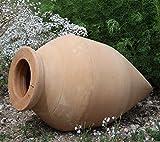 Kreta-Keramik absolut frostfeste handgefertigte Amphore | 60 cm | mediterrane Spitzamphore | Deko Garten Teich Terrasse Vitex