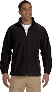 harriton men's 8 oz full zip fleece