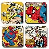 Marvel Comic–Juego de 4posavasos (Marvel Héroes 4)