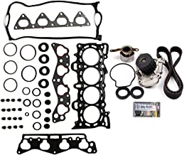 Evgatsauto Timing Belt Kit with Water Pump Valve Cover Gaskets Replacement Fits for Honda Civic Del Sol 1.6L SOHC D16Y5 D16Y7 D16Y8 1996 1997 1998 1999 2000