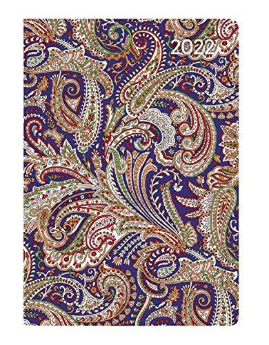 Ladytimer Mini Paisley 2022 - Taschen-Kalender 8x11,5 cm - Muster - Weekly - 144 Seiten - Notiz-Buch - Alpha Edition