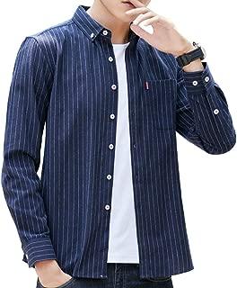 ODFMCE シャツ メンズ 長袖 オシャレ ストライプ ビジネス カジュアル 大きいサイズ