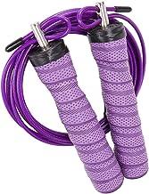 Abaodam Fitness Jump Rope Zweet-absorberende Lager Jump Rope Comfortabele Handvat Springtouw met Staaldraad voor Fitness O...