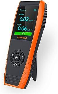 Temtop LKC-1000S + Detector de Alta Precisión de Calidad del Aire,AQI Sensor, para Pruebas PM2.5, PM10, Partículas, HCHO, TVOC, AQI, Temperatura, Humedad y Función de Histograma✩Garantía de tres años✩