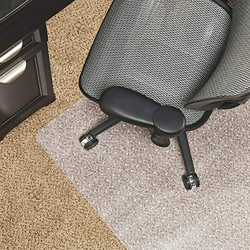 """Realspace Berber Studded Chair Mat for Low-Pile Carpets, 46""""W x 60""""D, Clear"""